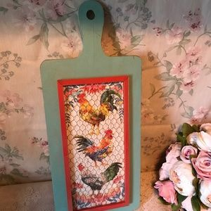 Shabby Chic Chicken Rooster Farmhouse Decor